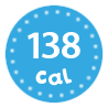 I'm only 138 calories per portion