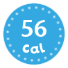I'm only 56 calories per portion