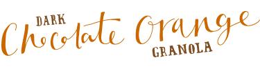 dark chocolate orange granola