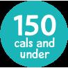 under 150 calories badge