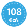 I'm only 108 calories per portion