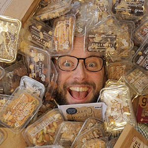 Ben with snacks