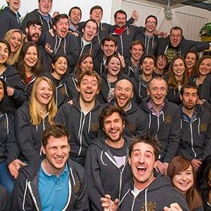 the tech team in graze hoodies