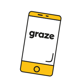 phone with graze logo