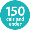 under 150 calories badge