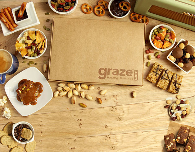 Healthy snacks, nuts, dried fruit - Graze