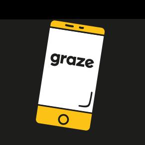 phone with graze logo